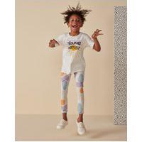 Amaro Feminino Camiseta Infantil Basica Young, Off-White