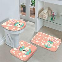 Jogo Tapetes Para Banheiro Happy Cute Easter