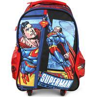 Mochila Infantil Luxcel Superman 4 Rodas Masculina - Masculino