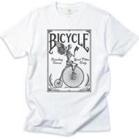 Camiseta Bike Cool Tees Bicicleta Vintage Masculina - Masculino-Branco