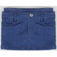 Saia Jeans Infantil Azul Médio