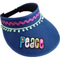 Viseira Novitá Decor Peace Azul