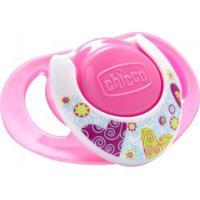 Chupeta Chicco - Compact Silk - Tam 2 - 6 Á 12M - Feminino-Rosa