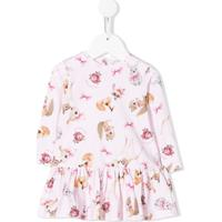 Monnalisa Vestido Com Estampa De Bambi - Rosa