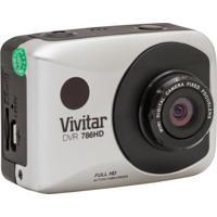 Câmera Filmadora Vivitar De Ação Full Hd Com Caixa Estanque E Acessórios Prata
