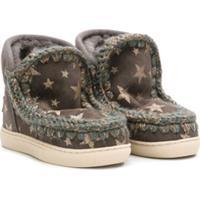 Mou Kids Star Print Boots - Cinza