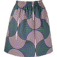 La Doublej Saia Com Estampa Geométrica - Slinky