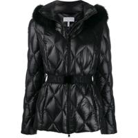 Escada Sport Belted Quilted Effect Jacket - Preto
