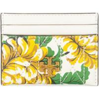 Tory Burch Porta-Cartões Kira Matelassê Com Estampa Floral - Branco