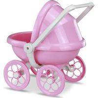 Mini Boneca - Micro Bebê Mania - Carrinho De Bebê - Rosa - Roma Jensen
