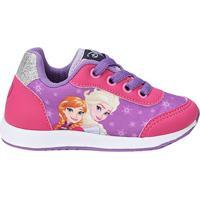 Tênis Infantil Disney Anna E Elza Feminino - Feminino-Roxo+Rosa