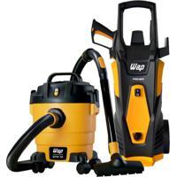 Lavadora De Alta Pressão Premier 2600 1800W E Aspirador De Água E Pó Gtw 10 Wap Amarelo 220V