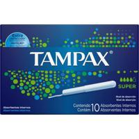Absorvente Interno Tampax Super - 10 Unidades