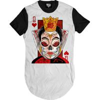 Camiseta Manga Curta Skull Clothing Rainha Poker Branco