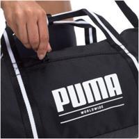 Mala Puma Core Base Barrel - Feminina - Preto/Branco