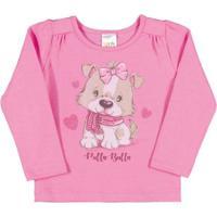 Blusa Bebê Menina Cotton - Feminino-Pink