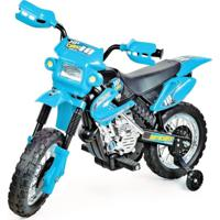 Moto Xplast Elétrica Infantil 6V Motocross - 241 - Azul - Kanui