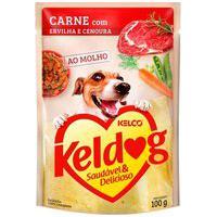 Ração Para Cães Keldog Carne Com Ervilha E Cenoura Sachê 100G
