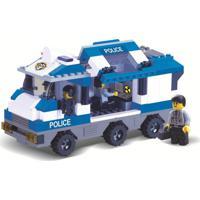 Blocos De Encaixe Xalingo Defensores Da Ordem Polícia 268 Peças Azul