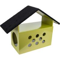 Brinquedo Arranhador Little House- Dourado & Preto- Carlu Pet