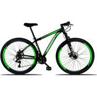 Bicicleta Dropp Aro 29 Freio A Disco Mecânico Quadro 15 Alumínio 21 Marchas Preto Verde