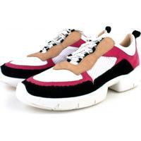 Tênis Trivalle Shoes Nobuck Preto/Azaleia