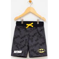 Bermuda Infantil Estampa Batman - Tam 2 A 14