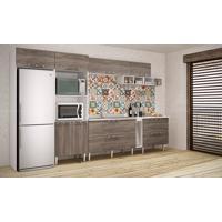 Cozinha Modulada Completa Com 8 Módulos Branco/Rústico - Art In Móveis