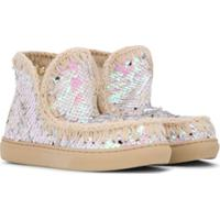 Mou Kids Sequin Eskimo Sneakers - Rosa