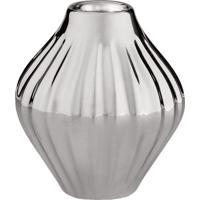 Vaso Metalizado- Prateado- 8,5Xã˜8,5Cm- Martmart