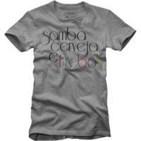 Camiseta Reserva Samba Cerveja E Futebol - Masculino