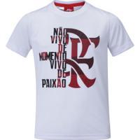 Camiseta Flamengo Braziline Moment Inf - Branco