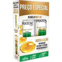 Kit Shampoo Pantene Restauração 400Ml + Condicionador Pantene Restauração 175Ml - Unissex-Incolor