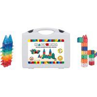 Blocos De Montar Jogo Magnético 90 Peças Magforma Brinquedo