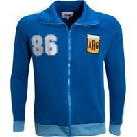 Agasalho Liga Retrô Argentina 1986 - Masculino-Azul Royal