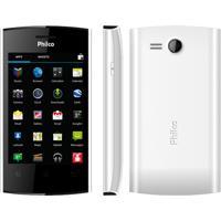 "Smartphone Philco Phone 350B Branco - 3G - Dual Chip - Gps - Tela De 3.5"" - 3Mp - Android 4.0"