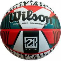 Bola De Basquete Wilson - 21 Series Branco Vermelho