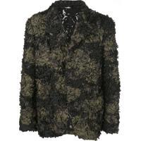Comme Des Garçons Homme Plus Textured Camouflage Blazer - Preto
