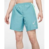 Short Nike Challenger Wild Run 7In Masculino - Masculino-Azul Petróleo+Verde Limão