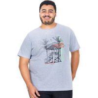 Camiseta Silk Over Masculina Polo Wear Mescla Claro 1206 Mescla Claro