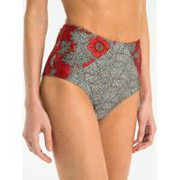 Biquíni Calcinha Hot Pants Estampa Maxi Floral