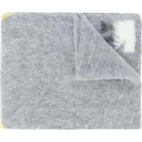 Off-White Echarpe Com Estampa De Flechas - Cinza