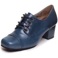 Sapato Oxford Feminino Azul - Petroleo / Preto 7305