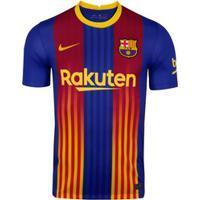 Camisa Barcelona Iv 20/21 Nike - Masculina - Azul