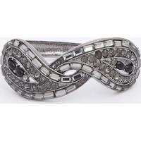 Bracelete Com Detalhes Vazados Em Strass E Navetes Folheado Piuka