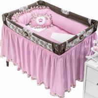 Enxoval Para Berço Desmontável I9 Baby 9 Peças Princesa Rosa