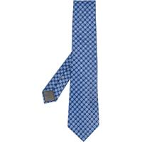 Canali Gravata De Seda Com Bordado De Poás - Azul