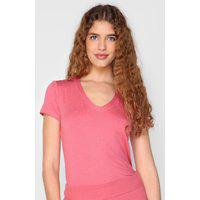 Blusa Malwee Flocada Rosa