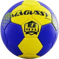 Bola Magussy Handebol Masculino Matrix H3L - Masculino-Azul+Amarelo