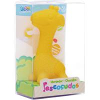 Mordedor E Chocalho - Bda Pescoçudos - Girafa - Toyster - Feminino-Incolor